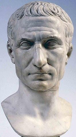 Bust of Julius Caesar, posthumous portrait in marble, 44–30 BC