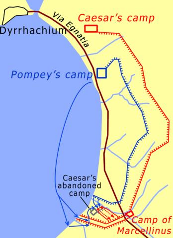 Battle of Dyrrhachium, 48 BC, English version