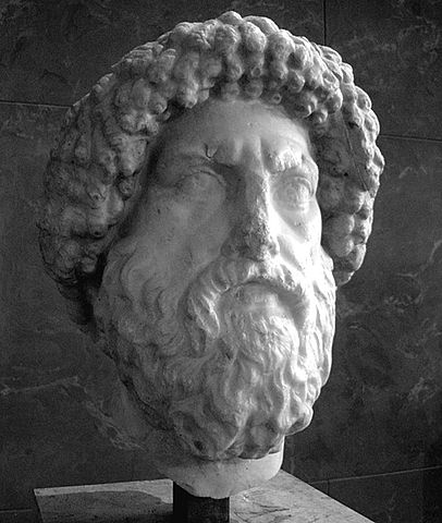 Juba I's bust in the Louvre, Paris