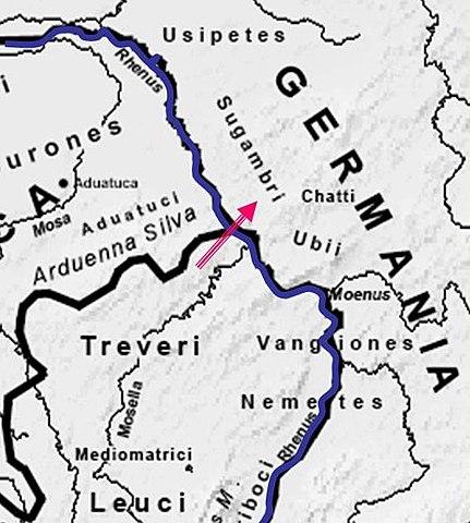 Likely site of Rhine crossings