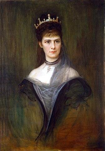 Elizabeth in mourning dress by Philip de László, 1899