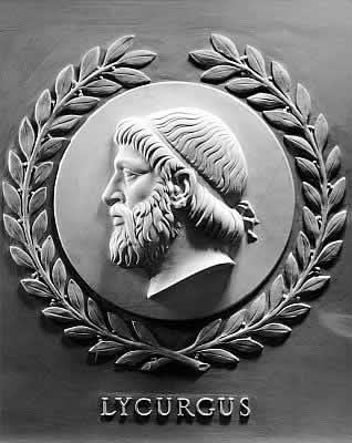 Bas-relief of Lycurgus, one of 23 great lawgivers depicted in the chamber of the U.S. House of Representatives
